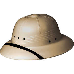 High Density Polyethylene Pith Helmet, Tan