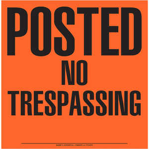 """Posted No Trespassing"" Aluminum Posted Sign"