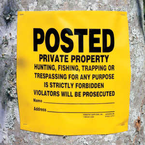 """POSTED Private Property"" Signs, Roll of 200"