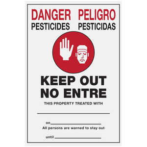 "Pesticide Warning Sign, 21"" x 14"""