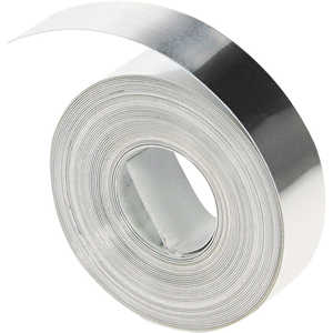 "Dymo Stainless Steel Tape without Adhesive, 1/2"" x 21'"