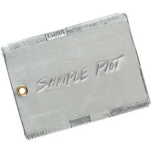 "3"" x 4"", Double-Faced Aluminum Tags, Box of 50"
