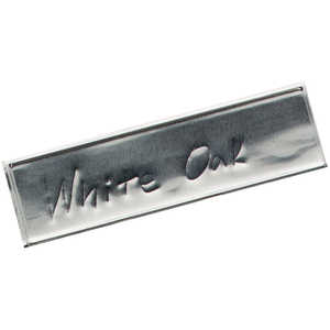 "Jim-Gem Aluminum Tags, 1"" x 3-1/2"", Box of 500"