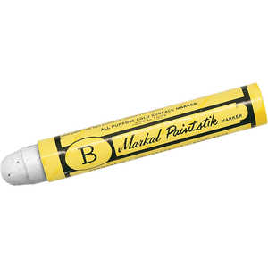 "Markal Paintstik ""B"", White, Box of 12"