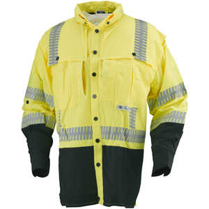 Radians Hi-Vis Class 3 Ripstop Long Sleeve Wind Shirt, Medium