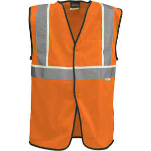 "Alpha Workwear Class 2 Classic Vest, Medium, 39""-42"" Chest, Orange"