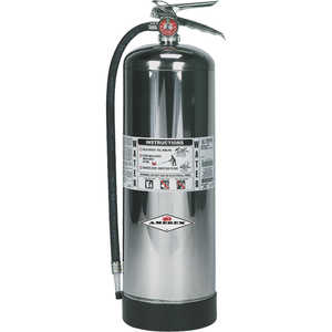 AMEREX Water Stored Pressure Fire Extinguisher, Model 240/2-1/2 gal./Hose