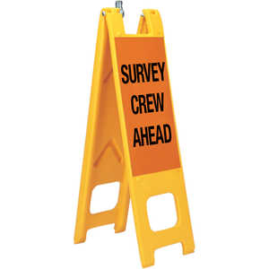 "Warning Narrowcades, ""SURVEY CREW AHEAD/SLOW"""