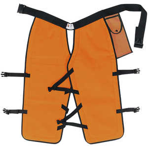 Sawbuck Four-Ply Para-Aramid Standard Coverage Chain Saw Chaps, 36˝ L, Safety Orange