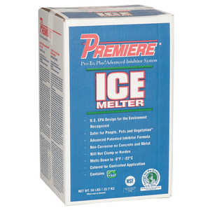 Premiere Ice Melter, 50 lb. Carton, Blue
