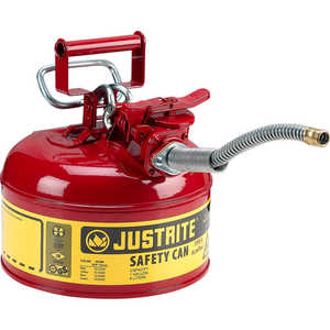 Justrite Type II AccuFlow Safety Can, Red, 1-Gallon