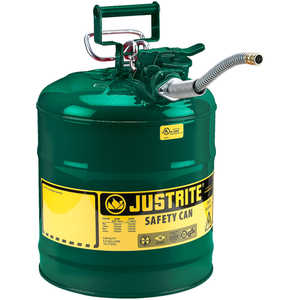 Justrite Type II AccuFlow Safety Can, Green, 5-Gallon