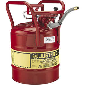 Justrite UNO DOT Safety Can, Five-Gallon