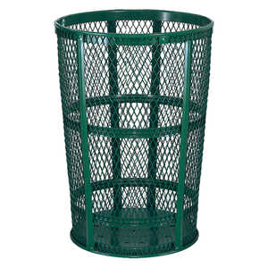 Expanded Steel Street Basket, Green