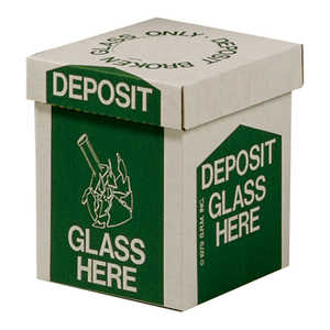 "Glass Disposal Boxes, Bench Style, 10""H x 8""W x 8""D, Carton of 6"