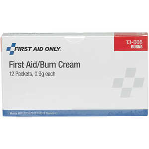Forestry Suppliers First Aid Refill, First Aid/Burn Cream, 0.9g Packets, Box of 12
