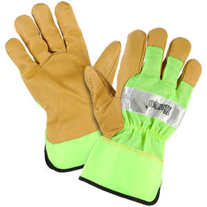 Kinco® Unlined Grain Pigskin High-Visibility Gloves