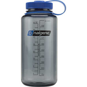 Gray, Nalgene Wide Mouth Water Bottle, 32 oz.