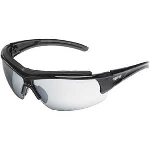 Elvex Impact 300 Series Safety Sunglasses, Black Frame, Silver Mirror HC Lens