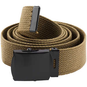 Rothco Web Belt, 54˝, Coyote Brown with Black Buckle