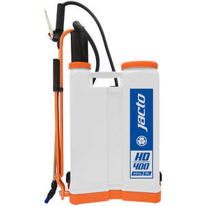Jacto Model HD400 Backpack Sprayer, 4-Gallon, White Tank