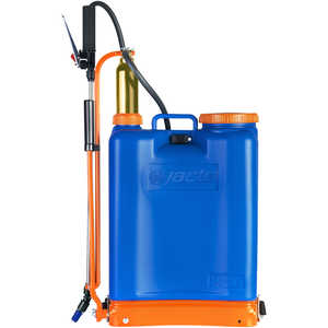 Jacto Model PJ16 Backpack Sprayer, 4-Gallon, Blue Tank