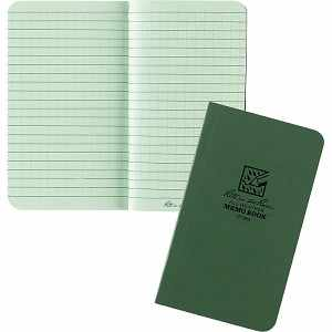 "Rite in the Rain Tactical Memo Book, Green, 3-1/2"" x 6"""