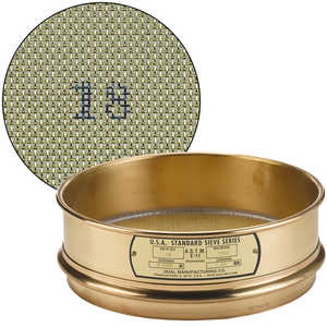 "No. 18; 1.00 mm/0.0394"" Dual Manufacturing Standard Testing Sieve"