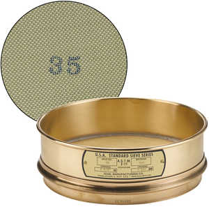 "No. 35; 500 µm/0.0197"" Dual Manufacturing Standard Testing Sieve"