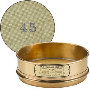 "No. 45; 355 µm/0.0139"" Dual Manufacturing Standard Testing Sieve"