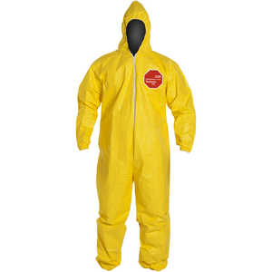 DuPont Tychem 2000 Special Purpose Yellow Coveralls, with Hood, XXXL