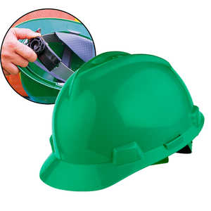 MSA V-Gard Slotted Cap w/Ratchet, Green