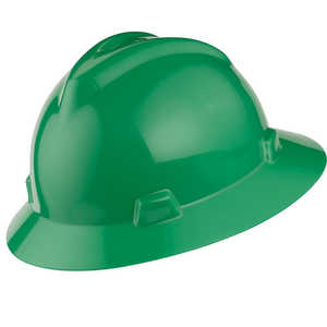 MSA V-Gard Hat w/Ratchet, Green