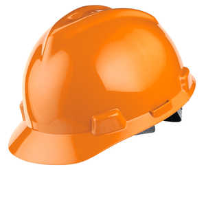 MSA V-Gard Slotted Cap w/Staz-On Susp., Orange