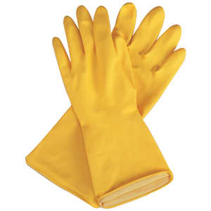 Flock-Lined, 18 mil Latex Gloves, Medium – Size 8