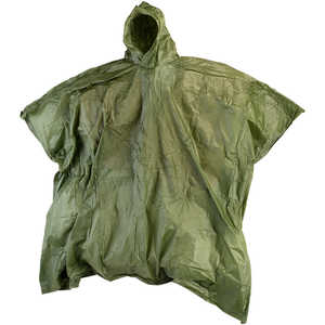 Texsport Laminated Nylon Poncho, Olive Drab