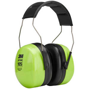 3M Optime 105 Over-the-Head Hi-Viz Earmuffs