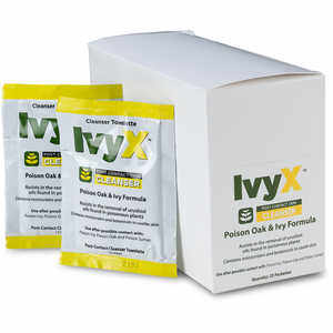 IvyX Post Contact Skin Cleanser, Box of 25 Towelettes