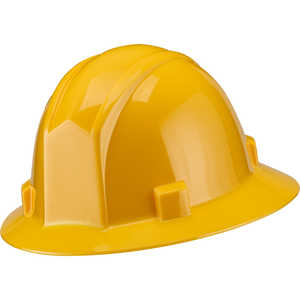 Elvex Volt Full Brim 4-Point Ratchet Suspension Hard Hat, Yellow