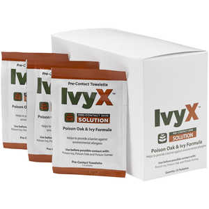 IvyX Pre-Contact Solution, Box of 25 Pouches