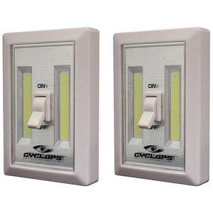 Cyclops Portable COB LED Cordless Light Switch, Pack of 2