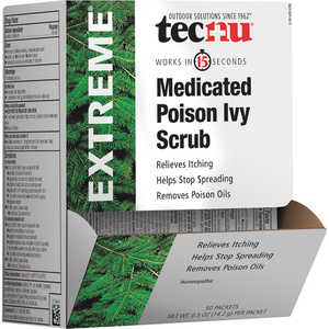 Tecnu Extreme Poison Ivy Scrub, 0.5 oz. Single-Use Packets, 50-Count Dispenser