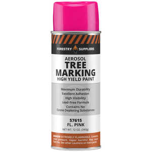 Forestry Suppliers Aerosol Tree Marking Paint, 12 oz., Flo. Pink