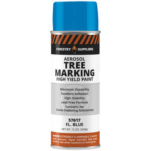Forestry Suppliers Aerosol Tree Marking Paint, 12 oz., Flo. Blue
