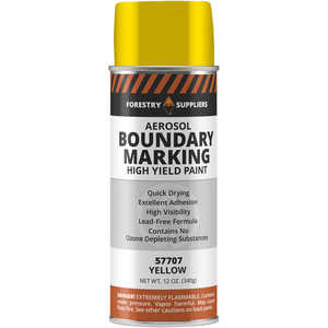 Forestry Suppliers Aerosol Yellow Boundary Paint