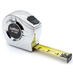 100m Lufkin 328'L Hi-Vis Orange Linear Tape Measure m cm in and 8ths