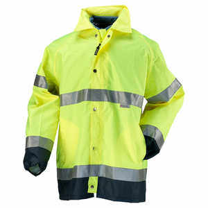 OccuNomix Premium Breathable Rain Jacket, X-Large (46˝-48˝ Chest)
