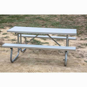 CJ Series Welded Frame Table with Aluminum Top, 6´
