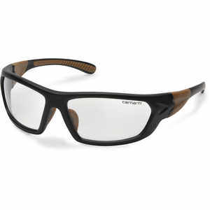Clear Anti-Fog Lens, Black/Tan Frame, Carhartt Carbondale Safety Glasses