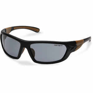 Gray Anti-Fog Lens, Black/Tan Frame, Carhartt Carbondale Safety Glasses